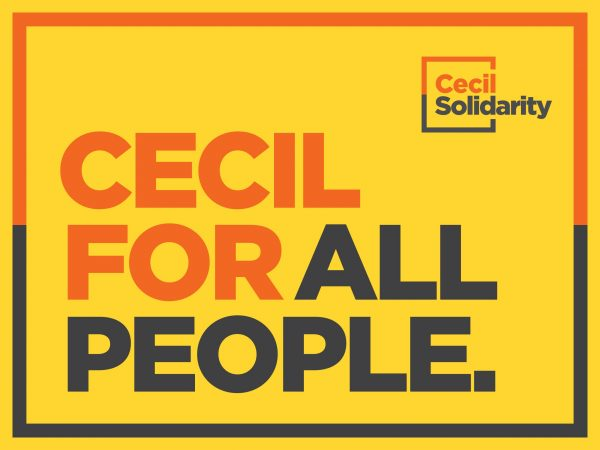 Cecil for All People yard sign